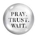 Christian Brands G0234 F2F Paper Weight - Pray Trust Wait