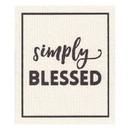 Faithworks G1269 Organic Dishcloth - Simply Blessed