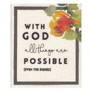 Faithworks G1271 Organic Dishcloth - All Things are Possible