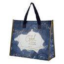 Gifts of Faith G1812 Laminated Tote - With God all things are Possible