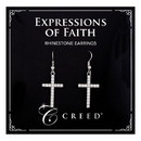 Creed G2083 Creed® Rhinestone Dangle Earring - Silver