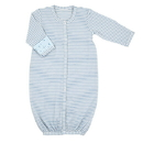 Stephan Baby G2174 Gown - Blue Geo Stripe