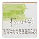 Christian Brands G2289 It Is Well - Tabletop Plaque - Inspirational - It Is Well