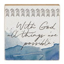 Christian Brands G2300 It Is Well - Tabletop Plaque - Inspirational - With God