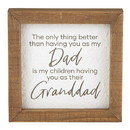 Heritage G2326 All About Dad - Framed Tabletop - Dad/Granddad