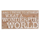 Christian Brands G2477 Wall Décor - Wooden Plaque - Wonderful World