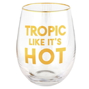 Christian Brands G2536 Wine Glass - Tropic Like It's Hot