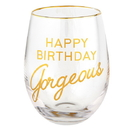 Christian Brands G2538 Wine Glass - Happy Birthday Gorgeous