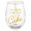 Christian Brands G2539 Wine Glass - Here for the cake