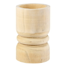 Christian Brands G2610 Large Succulent Pillar - Natural Paulownia Wood