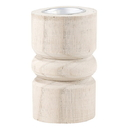 Christian Brands G2631 Small Candle Holder - Natural Wood with Gold Plate