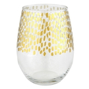 Christian Brands G2718 Gold + Clear Stemless Wine Glass