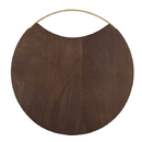 "Christian Brands G2720 Wood + Brass Board - 12"" Dia"