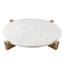 """Christian Brands G2757 Marble Tray & Natural Mango Wood Stand - 14"""""""