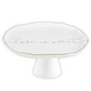 Christian Brands G2860 Ceramic Cake Stand - Love Is Sweet