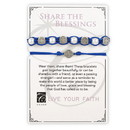 Creed G2945 Creed® Share the Blessings Bracelet Set - Navy/Silver