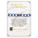 Creed G2953 Creed® Pearls of Blessings Saint Benedict Bracelet - Navy/Silver