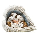 Christian Brands G4770 Adoring Sheep at the Manger