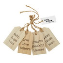 Christian Brands G4924 Wood Tag Set - Inspirational - Faith, Hope, Love