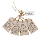 Christian Brands G4925 Wood Tag Set - Inspirational - It is Well