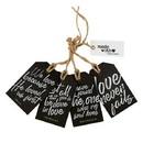 Christian Brands G4926 Wood Tag Set - Inspirational - Love Never Fails