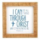 Heritage G4951 Tabletop Decor - Framed - Inspirational - Through Christ
