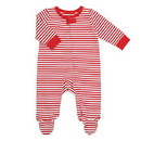 Stephan Baby G5473 PJ Footie Red/Wht Strp 0-6mo