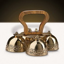 Sudbury GC809 4-Bell Embossed Brass Altar Bells