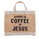Faithworks J0037 Mini Market Tote - Coffee & Jesus