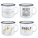 Faithworks J0099 Pack Smart - Enamel Mugs - Christmas - 12pcs