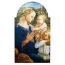 Gerffert J0589 Lippi Virgin In Adoration Arched Plaque