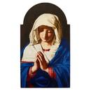Gerffert J0591 Sassoferrato Virgin In Prayer Arched Plaque