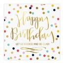 Christian Brands J0830 Beverage Napkins - Happy Birthday - 20pk