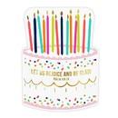 Christian Brands J0832 Beverage Napkins - Birthday Cake - 20pk
