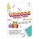 Christian Brands J1270 Verse Card - Whoooo Loves You