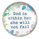 Christian Brands J1316 Glass Dome Paperweight - God Within