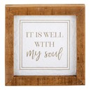 Heritage J1367 Tabletop Décor - Framed - It is Well