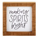 Heritage J1518 Tabletop Décor - Framed - Spirits Bright