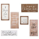 Christian Brands J1548 Pack Smart - Wall Decor - Wooden Plaques - Inspirational - 7pcs