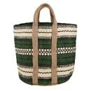 Christian Brands J2671 Jute Basket Bag - Forest Green