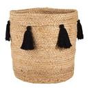 Christian Brands J2678 Jute Bag - Natural with Black Tassels