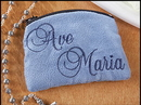 Creed KC651 Ave Maria Cloth Rosary Cases