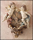 Sacred Traditions KS029 Double Angel Holy Water Font