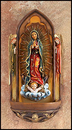 Sacred Traditions LC612 Our Lady Of Guadalupe Holy Water Font