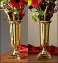 Sudbury LC914 Brass Altar Vases W/Liners