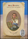 Milagros MC026 St Dymphna (Epilepsy) Healing Holy Card with Medal