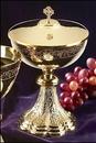 Sudbury MC349 Grapes & Wheat Engraved Ciborium With Celtic Cross Cover