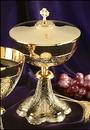 Sudbury MC351 Embossed Vines Ciborium With Celtic Cross Cover