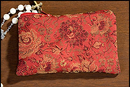 Milagros MC942 Red Rose Brocade Rosary Case