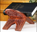 Robert Smith NC274 Carved Wood Bible Stand